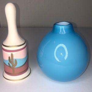 West elm vase + southwest Mexican cactus bell